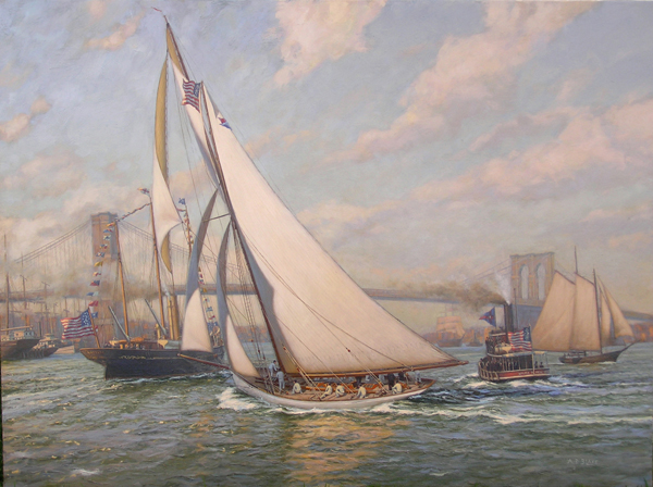 Image result for Puritan was the victorious defender of the fifth America's Cup